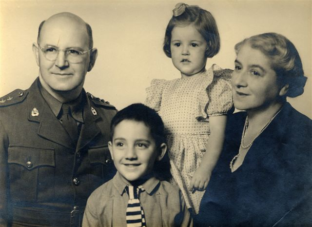 <p>A young Tipene O'Regan pictured here with his father Rolland, sister, and mother Rena (nee Bradshaw).  <em>Tā Tipene O'Regan Collection, Ngāi Tahu Archive, 2014-174</em></p>
